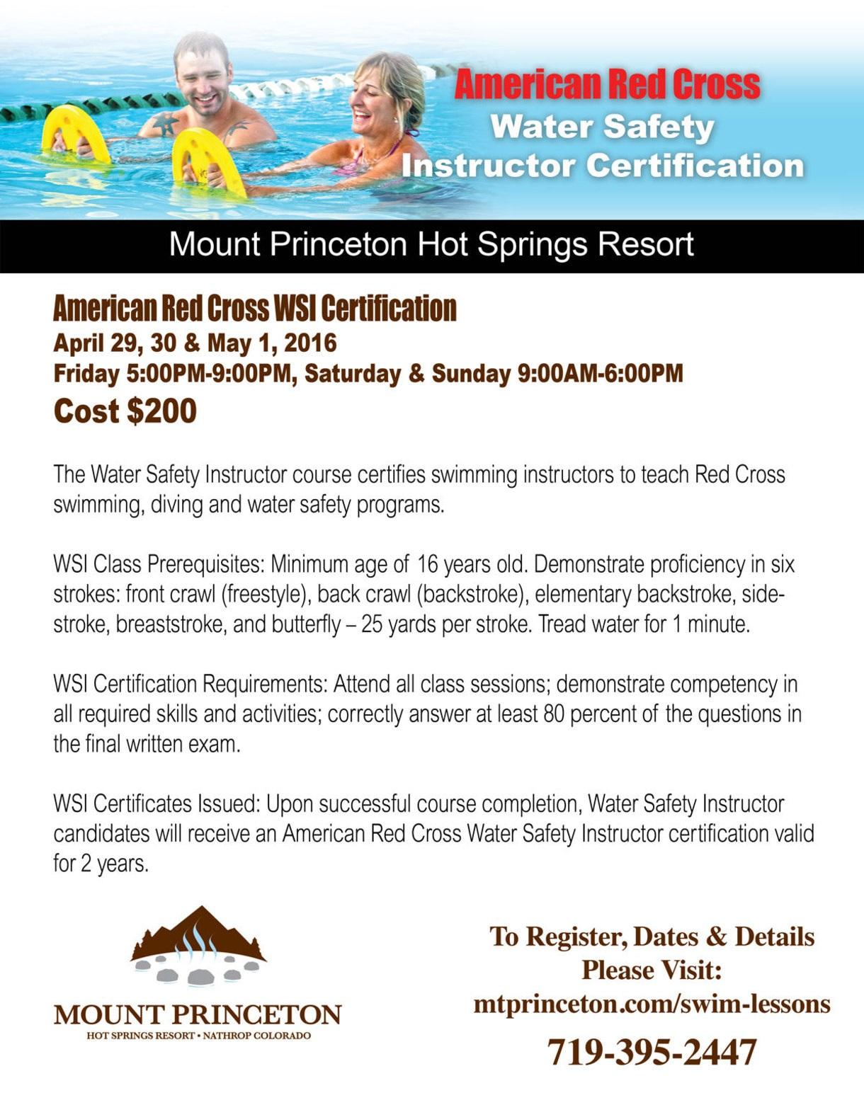 cross safety water instructor american princeton mt salida chamber