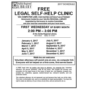 Free Legal Clinic – May 3