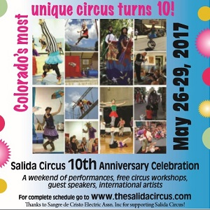 Salida Circus – Save the Date – 10th Anniversary Party – May 26-29