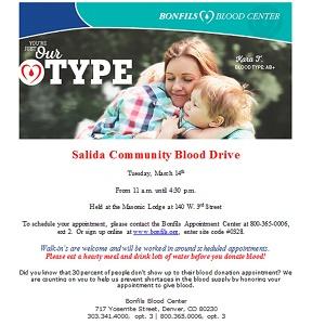 Salida Community Blood Drive – March 14