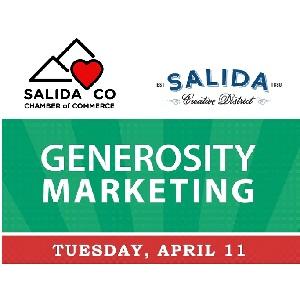 Free Business Workshop Series – Generosity Marketing – April 11