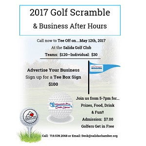 Salida Chamber of Commerce Golf Scramble – May 12