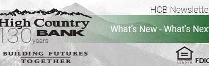 High Country Bank – April