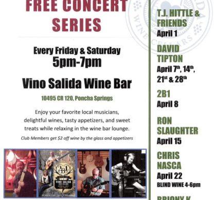 Vino Salida – Free Concert Series – April