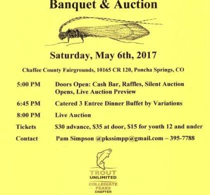 32nd Annual Caddis Festival Banquet & Auction – May 6