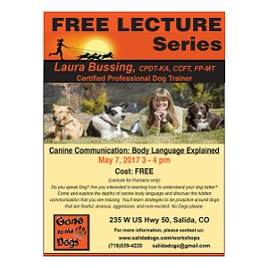 Gone to the Dogs – Free Lecture – Canine Communication – May 7