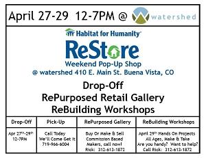 ReStore Pop-Up Shop – April 27,28,29