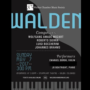 Walden Chamber Music Society – May 7