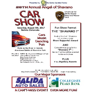 Angel of Shavano Car Show – August 5