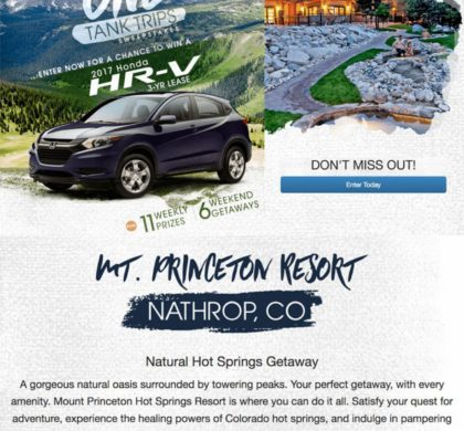 Mount Princeton Hot Springs Resort – Giveaway