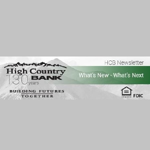 High Country Bank – October