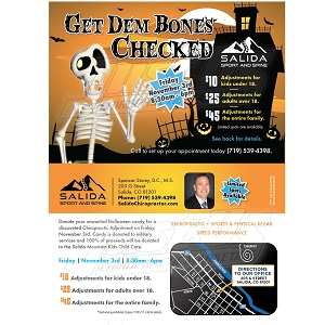 Salida Sport & Spine – Get Dem Bones Checked – November 3