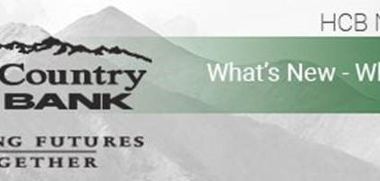 High Country Bank – December