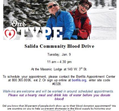 Salida Community Blood Drive – January 9