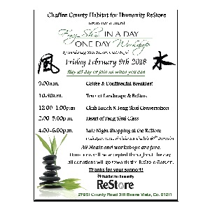 Chaffee County Habitat for Humanity ReStore – Feng Shui – February 9th
