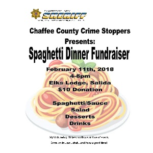 Chaffee County Crimestoppers Spaghetti Dinner Fundraiser – February 11